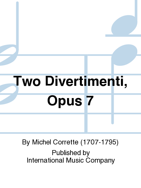 Two Divertimenti, Opus 7