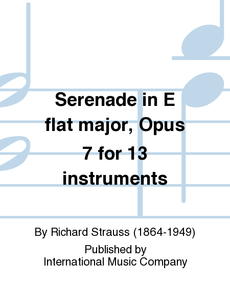 Serenade in E flat major, Opus 7 for 13 instruments