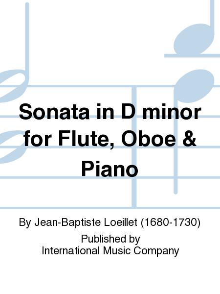 Sonata in D minor for Flute, Oboe & Piano