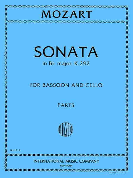 Sonata in B flat major, K. 292 for Bassoon & Cello