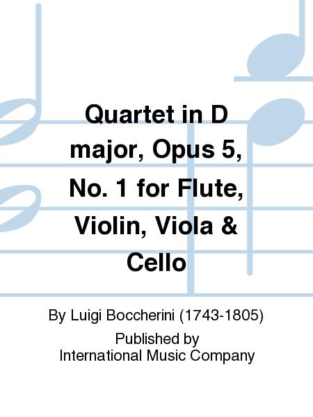 Quartet in D major, Opus 5, No. 1 for Flute, Violin, Viola & Cello