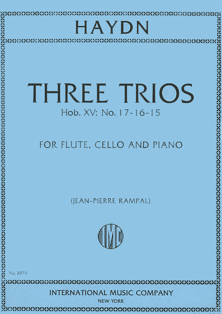Three Trios (F,D,G) for Flute, Cello & Piano