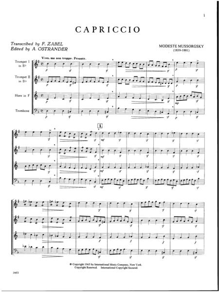 Capriccio for Horn, 2 Trumpets & Trombone