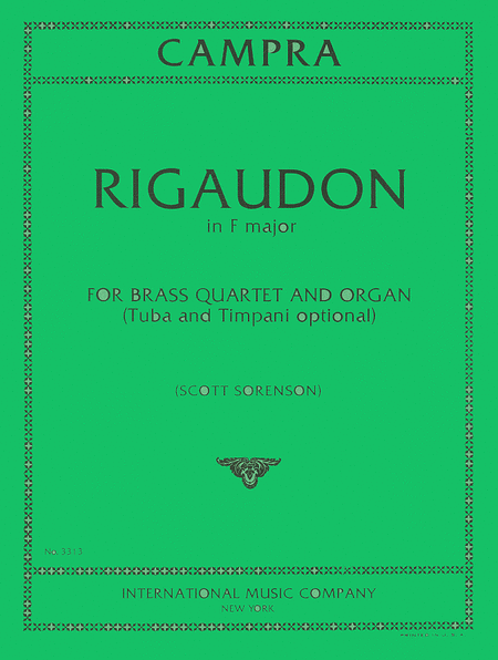 Rigaudon for Brass Choir and Organ)