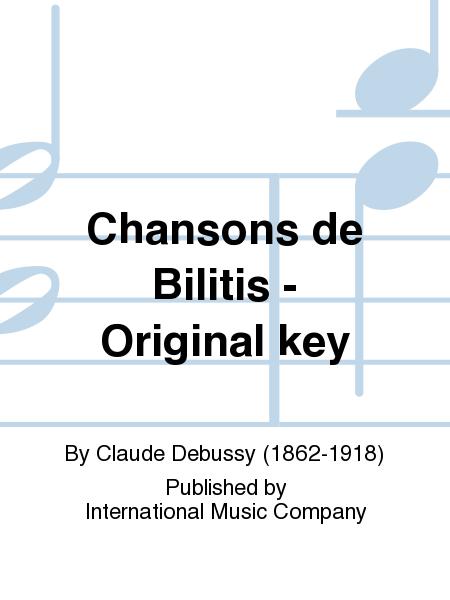 Chansons de Bilitis - Original key