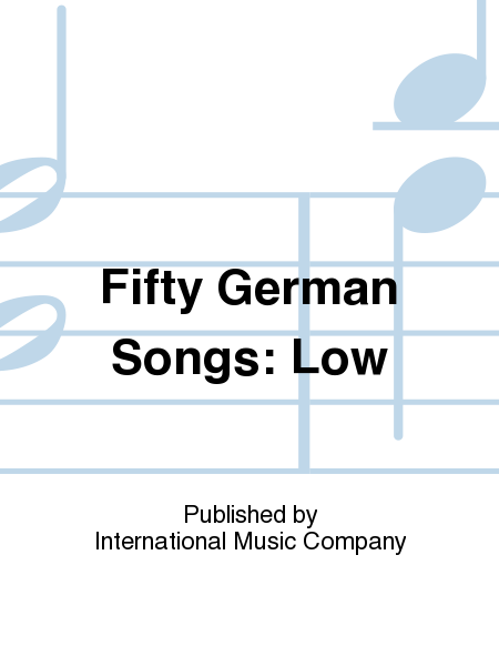 Fifty German Songs: Low