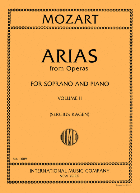 Arias from Operas - Volume II (Soprano)