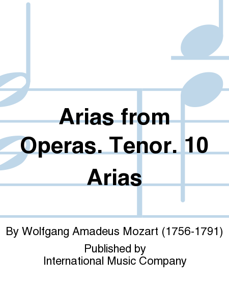 Arias from Operas. Tenor. 10 Arias