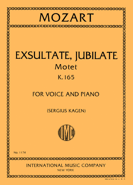 Exsultate, Jubilate, Motet, K. 165