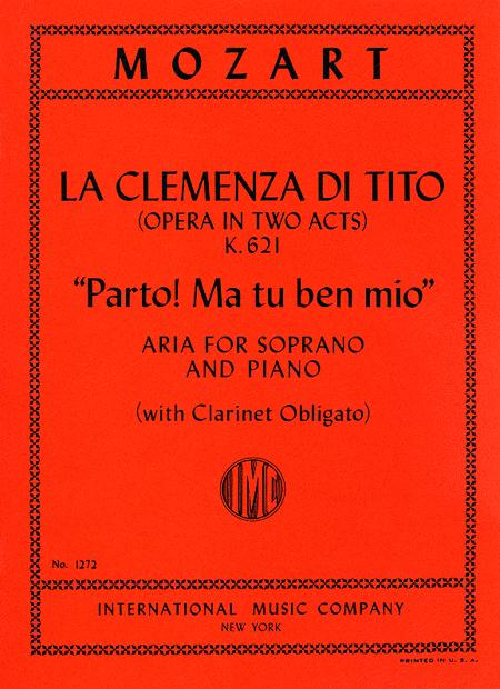 Parto! Ma tu ben mio, from 'La Clemenza di Tito' (for Soprano with B flat clarinet ad lib.)