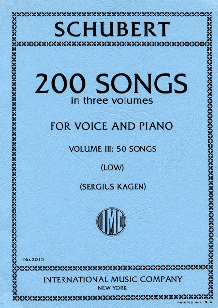 200 Songs - Volume III (Low Voice)