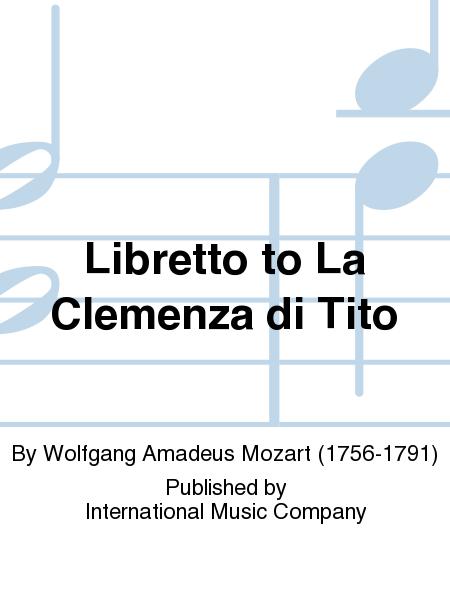 Libretto to La Clemenza di Tito