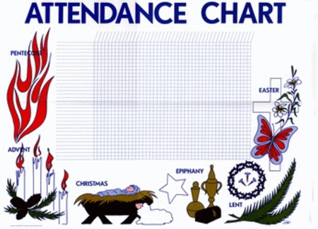 Attendance Chart - Seasons of the Church Year