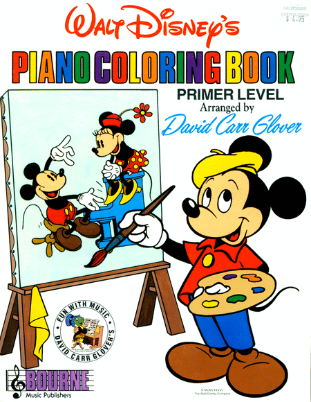 Walt Disneys Piano Coloring Book Sheet Music By David