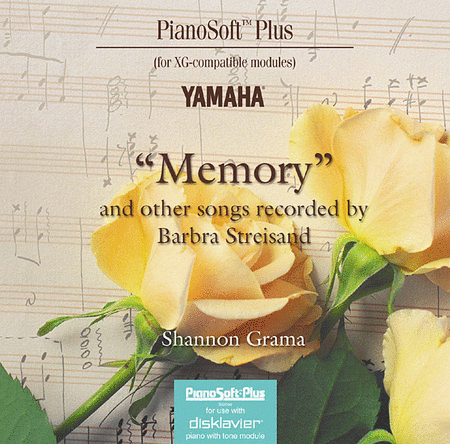 Memory and Other Songs Recorded by Barbra Streisand - Piano Software