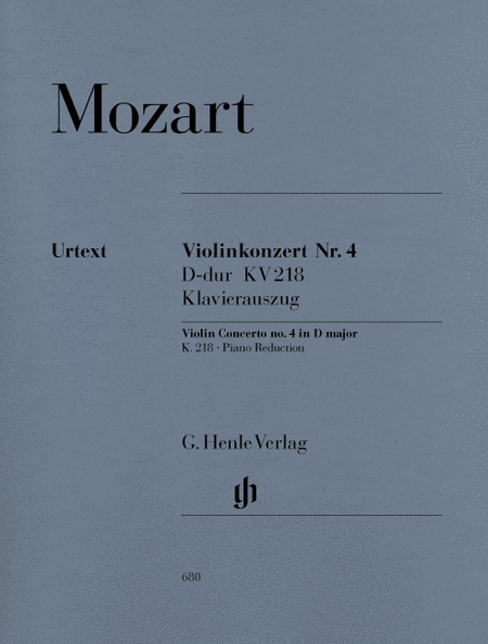 Violin Concerto No. 4 in D Major K218