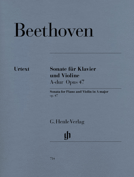 Sonata for Piano and Violin in A Major Op. 47 (Kreutzer-Sonata)
