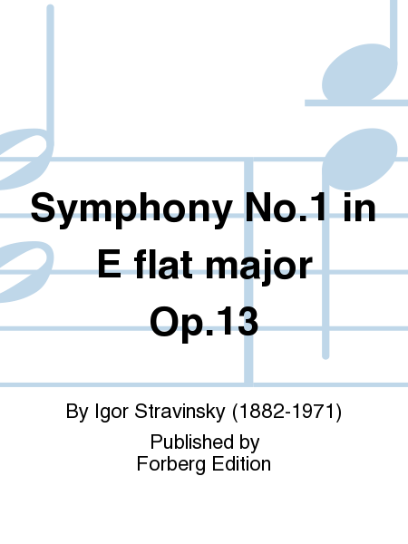 Symphony No. 1 in E flat major Op. 13