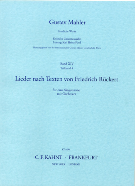 Songs on Texts by Friedrich Ruckert