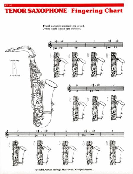 Elementary Fingering Chart - Tenor Saxophone