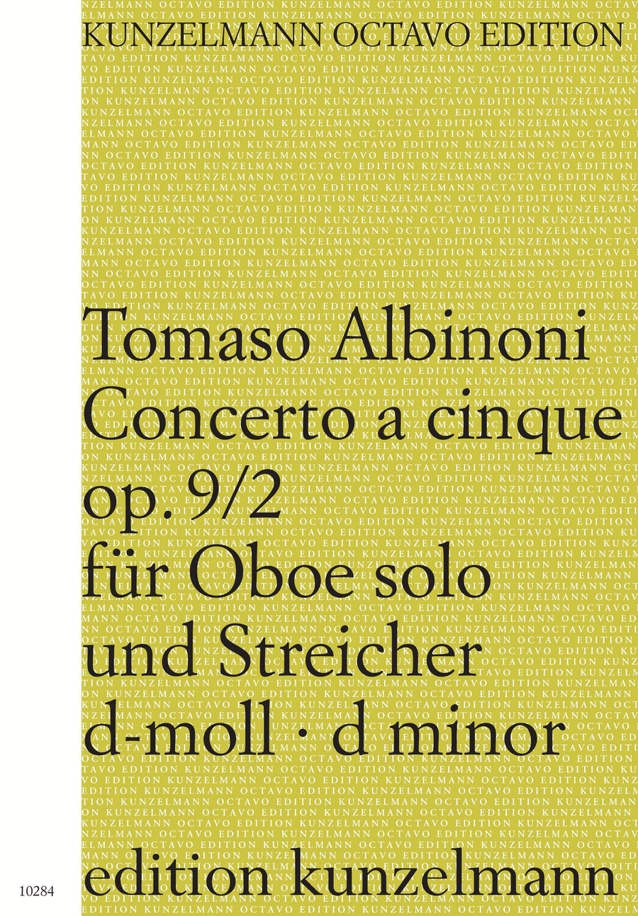 Concerto a cinque in d minor Op.9 No.2 for