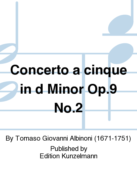 Concerto a cinque in d minor Op.9 No.2