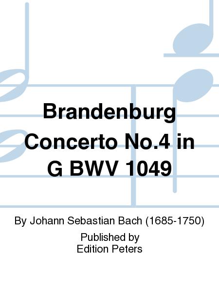 Brandenburg Concerto No.4 in G BWV 1049