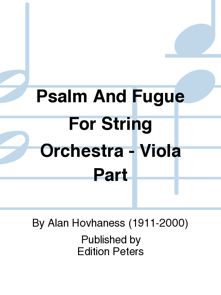 Psalm And Fugue For String Orchestra - Viola Part