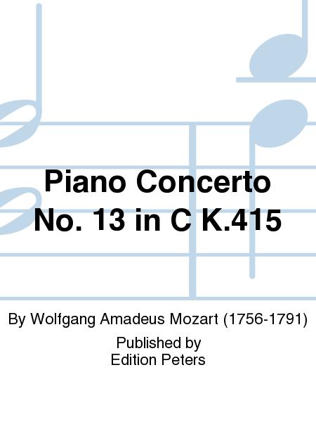 Piano Concerto No. 13 in C K.415