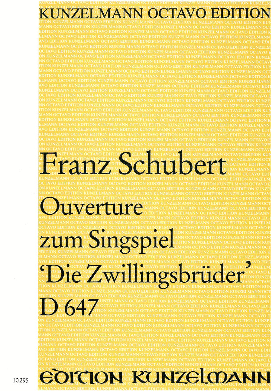 Overture to the Singspiel 'Die Zwillingsbruder'