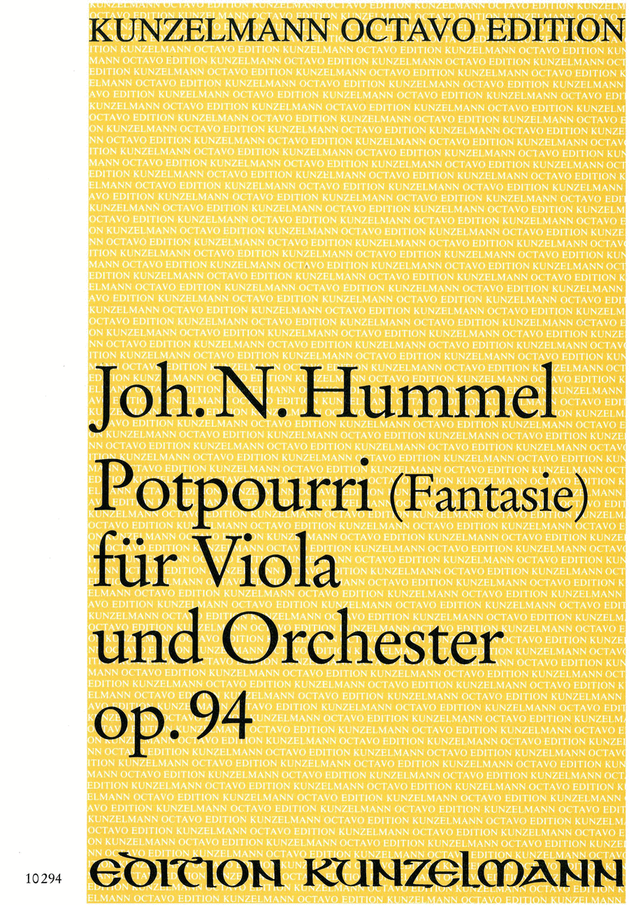 Potpourri (Fantasie) Op. 94 for Viola and Orchestra