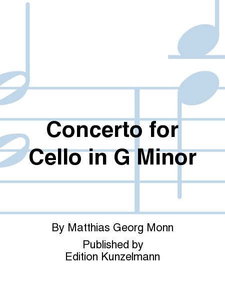 Concerto for Cello in G Minor