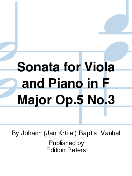 Sonata for Viola and Piano in F Major Op.5 No.3