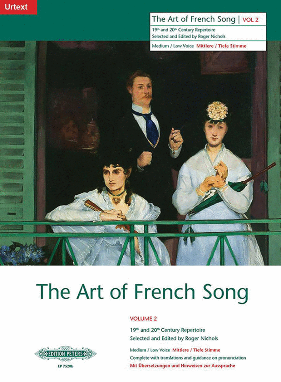 Art of French Song, Volume 2 - Medium/Low Voice