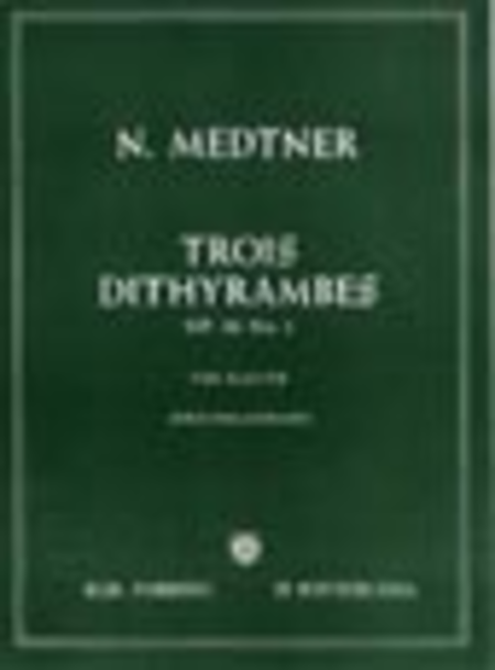 Trois Dithyrambes Op. 10 No. 1
