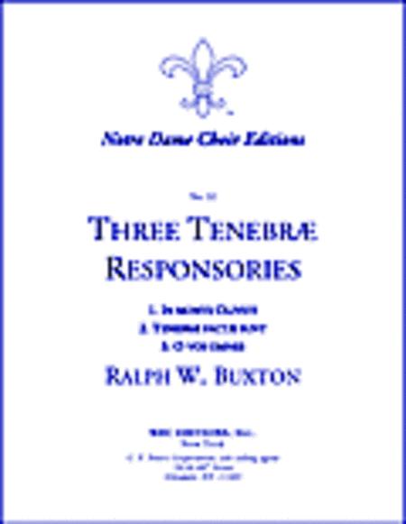 3 Tenebrae Responsories