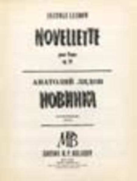 Novellette Op. 20