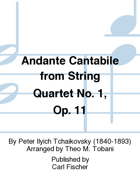 Andante Cantabile From String Quartet No. 1, Op. 11