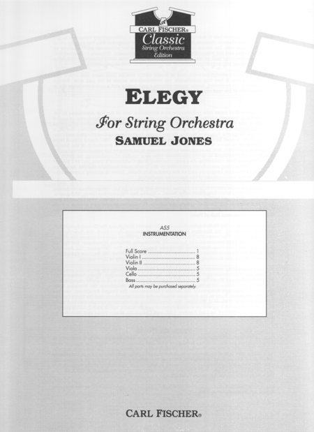 Elegy for String Orchestra
