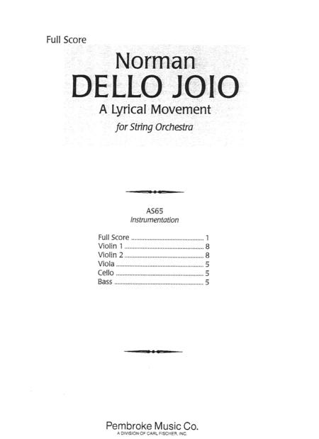 A Lyrical Movement