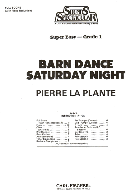 Barn Dance Saturday Night