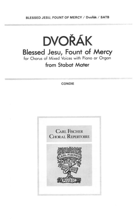 Blessed Jesu Fount Of Mercy Op 58