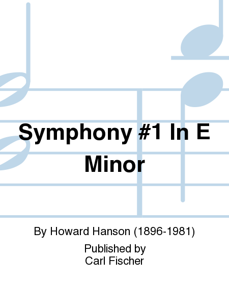 Symphony #1 In E Minor