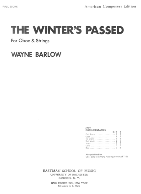 Winter's Passed