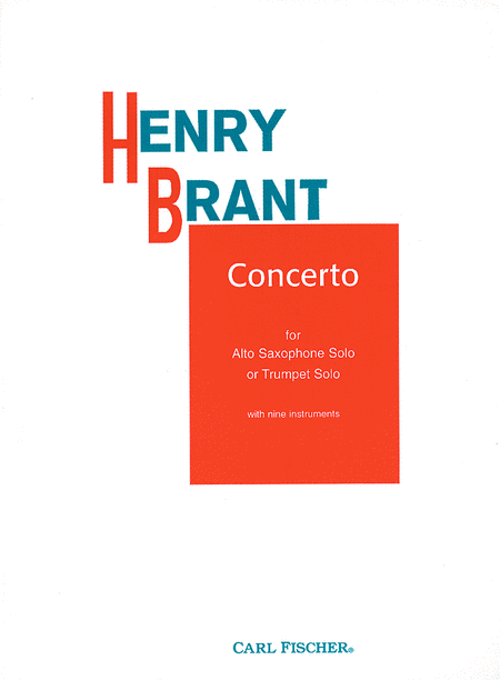 Concerto For Alto Saxophone Solo Or Trumpet Solo
