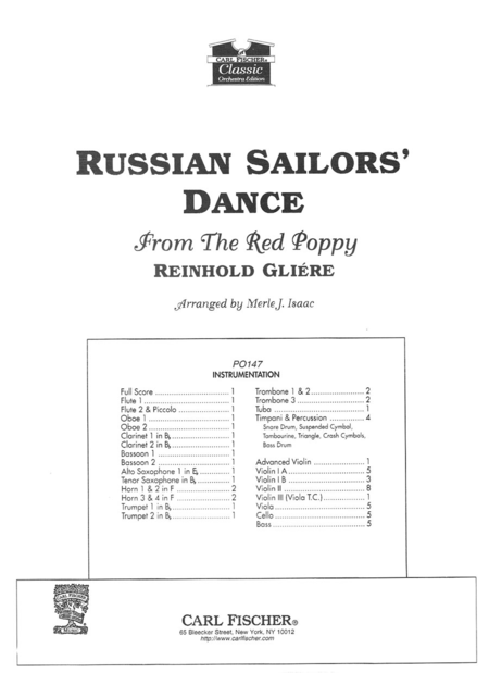 Russian Sailors' Dance from 'The Red Poppy'