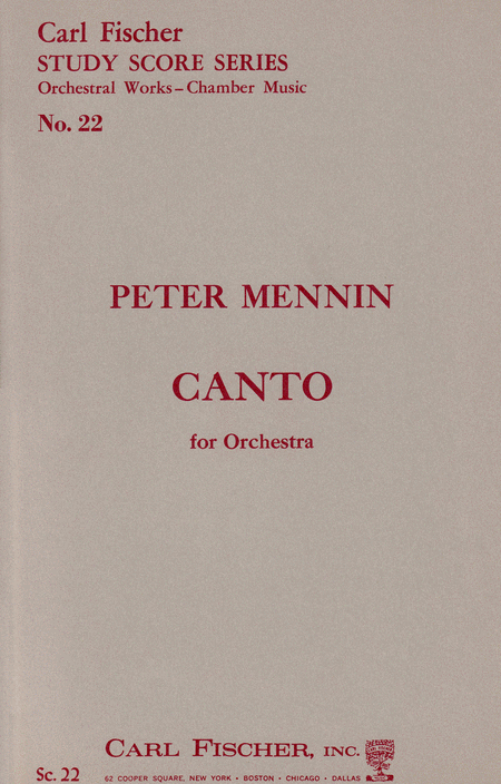 Canto For Orchestra
