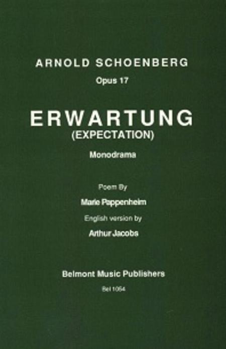 Erwartung libretto, Op. 17