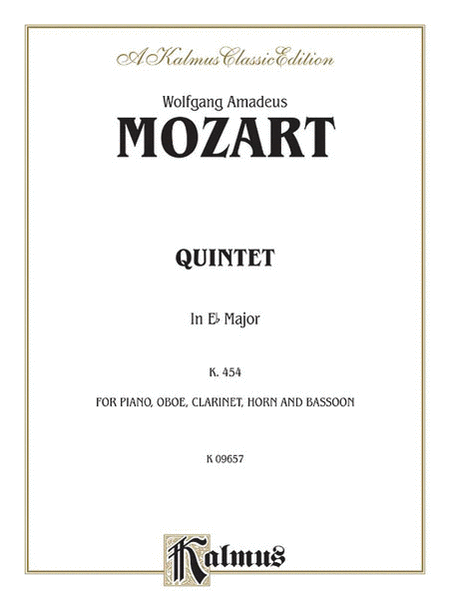 Piano Quintet In E Flat K. 452