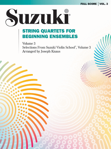 String Quartets for Beginning Ensembles, Volume 3